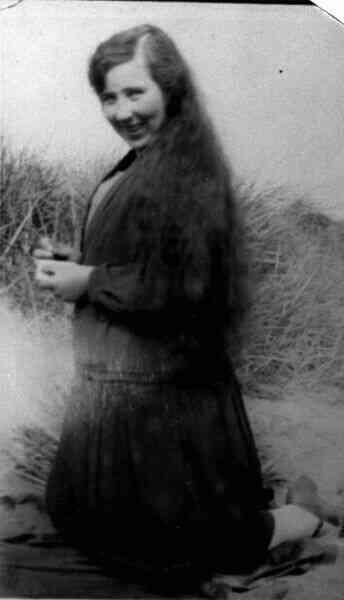 Young Woman Amongst Sand Dunes 1929