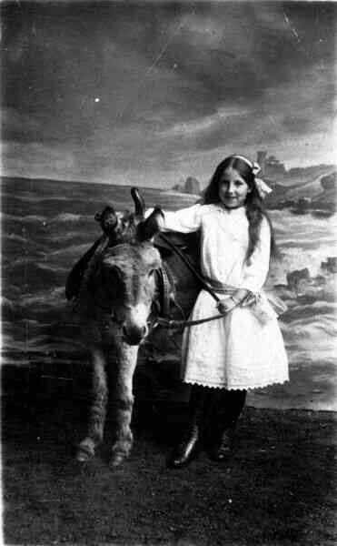 Young Girl With Donkey 1915