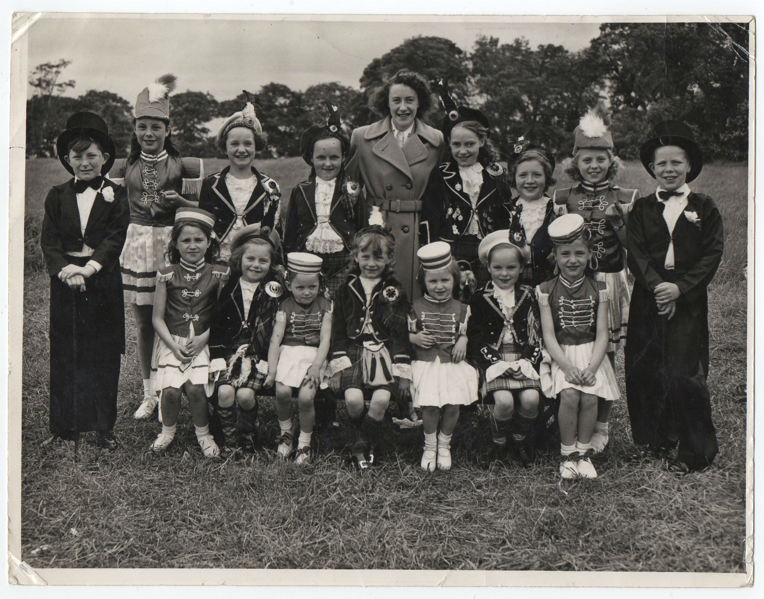 Kathleen Glancy's Highland Dancing Class at a gala day
