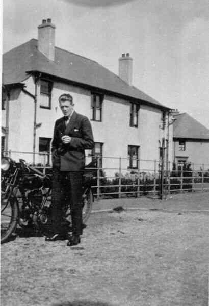 Man With Motorbike 1932