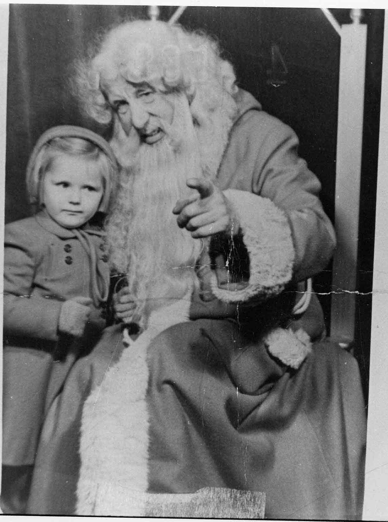Jenners Father Christmas With Young Child 1950