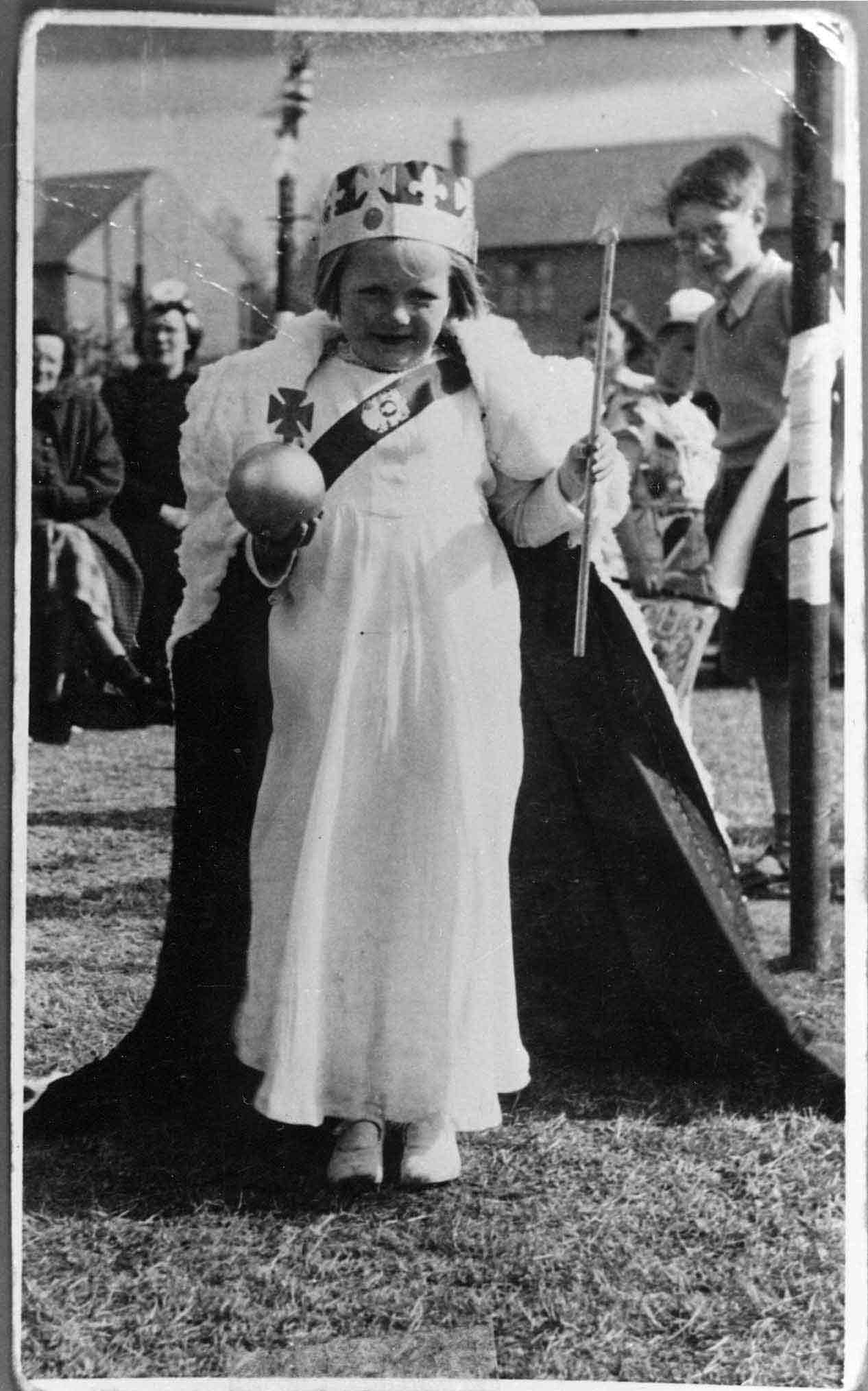 Young Girl On Gala Day In Coronation Year 1953