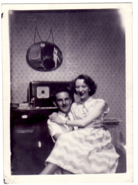 Couple Relaxing In Their Home At 42 Dumbiedykes Road c.1955