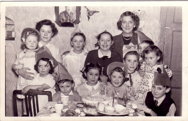 Children's Birthday Party Held At 42 Dumbiedykes Road 1954
