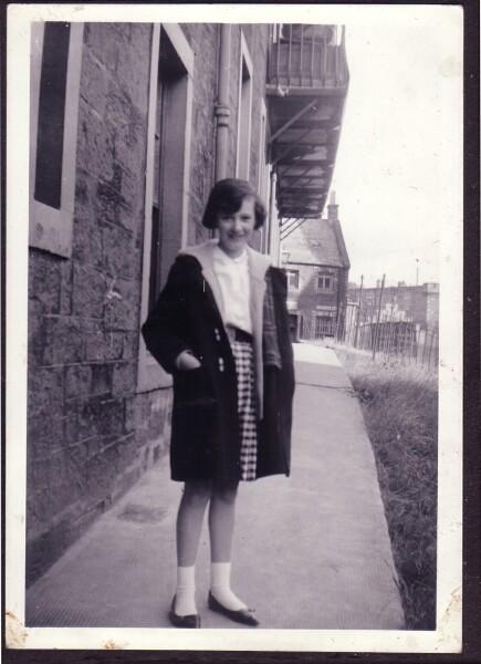 Girl Standing Outside Tenement 1963