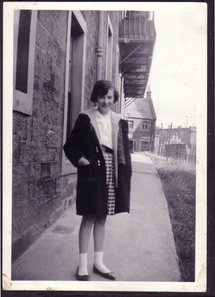 Girl Standing Outside Tenement At 30 Dumbiedykes Road 1963