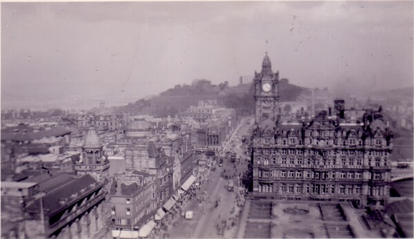 Princes Street Looking East To Calton Hill c.1950