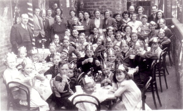 "Coronation Day Street Party At ""The Brickies"" In Dumbiedykes Road 1953"