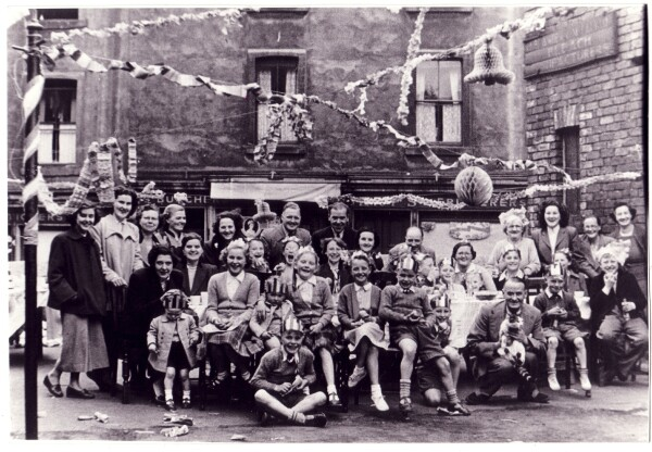 Coronation Day Street Party at 'Hen's Dyke' By Dumbiedykes Road 1953