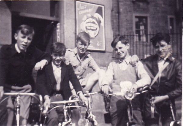 Boys On Their Bikes Outside Waterstones Paper Shop In Dumbiedykes c.1955