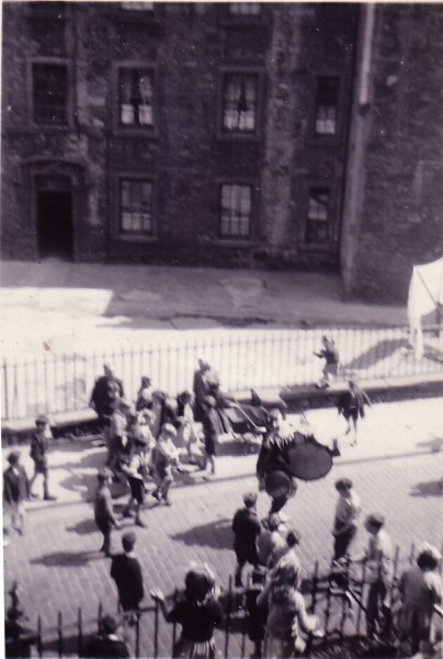 John Codona One-Man Band Playing In Dumbiedykes Road c.1954