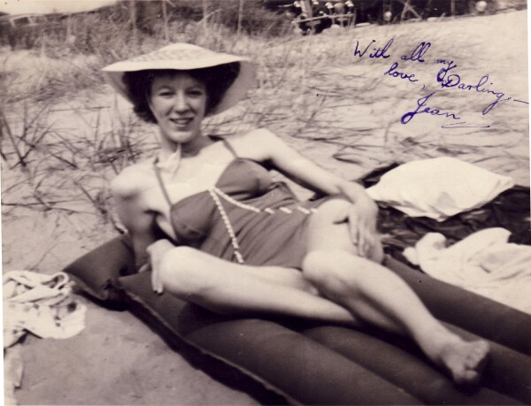 Young Woman Sunbathing At The Beach 1950s
