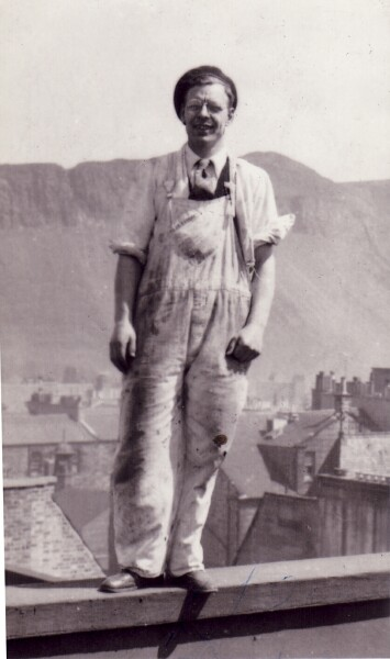 Workman On Roof Of The Empire Theatre, early 1950s