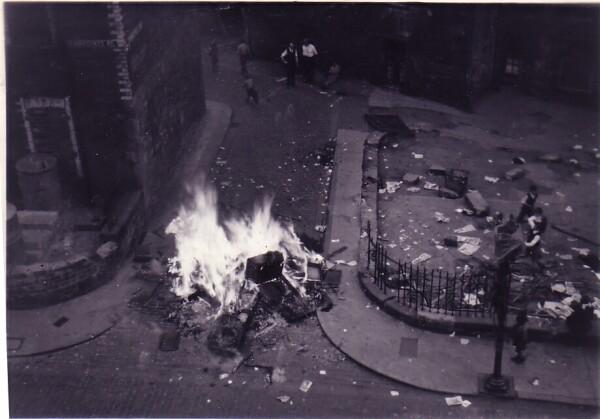 Bonfire Night At Dumbiedykes Lane c.1955