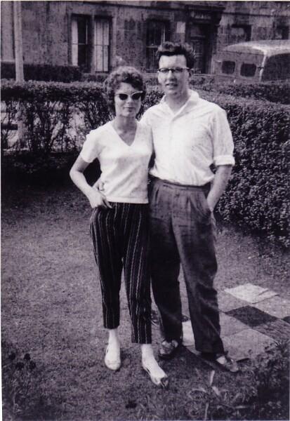Couple In The Front Garden At 10 Bellevue Street c.1957