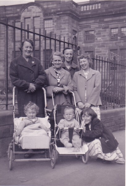 Women And Children Outside Nursery School At Moray House c.1958