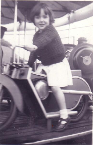 Young Girl On Merry-Go-Round At Portobello 1955