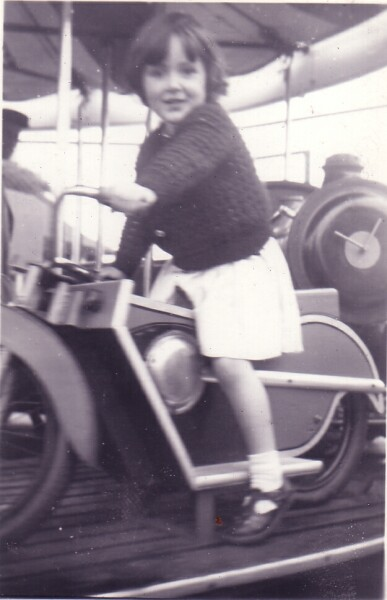 Young Girl On Merry-Go-Round At Portobello 1955