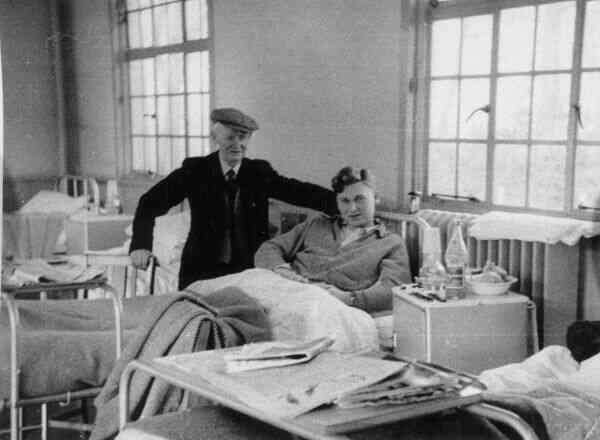 Patient At TB Clinic With Visitor 1955