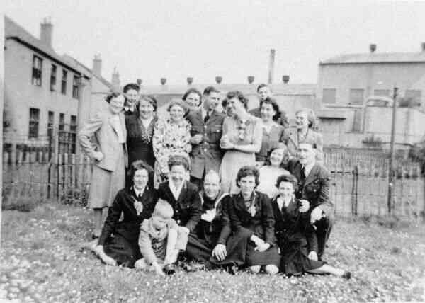 Wartime Wedding Group Portrait 1942