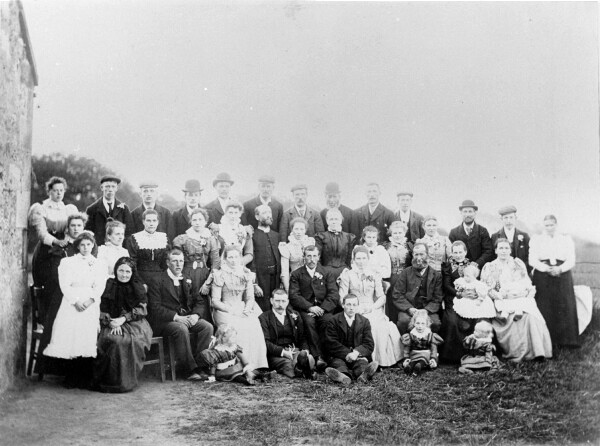 Wedding Group Portrait In Penicuik 1899
