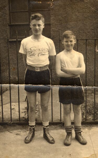 Two Young Boxers With Sparta Athletic Club On MacDonald Road 1950s