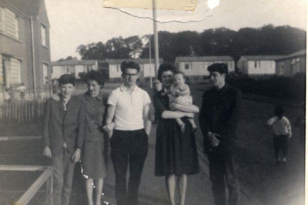 The Barr Family At Craigmillar Castle Gardens 1962