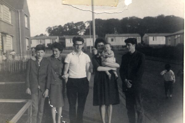 The Barr Family At Craigmillar Castle Gardens 1962
