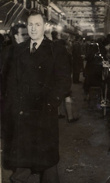 Man Standing At Waverley Station 1950s
