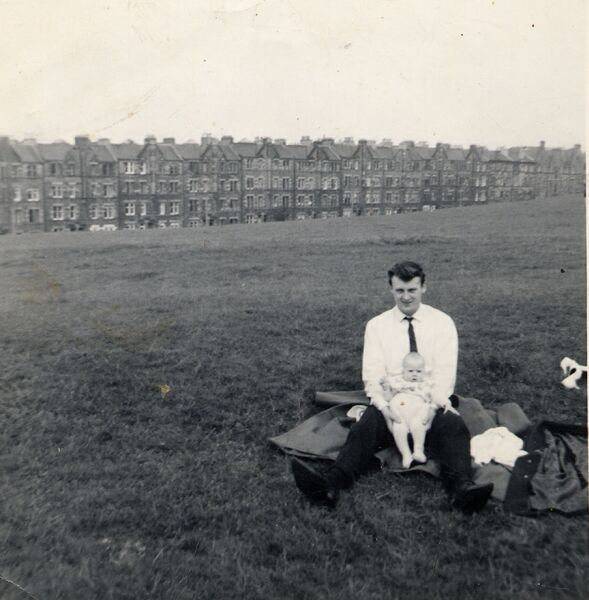 Father With Baby Daughter At Holyrood Park c.1963