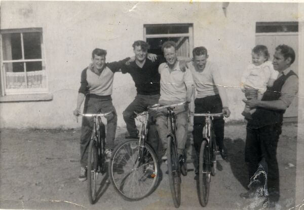 Four Young Men On Their Bicycles 1960s