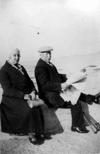 Elderly Couple At The Beach 1935