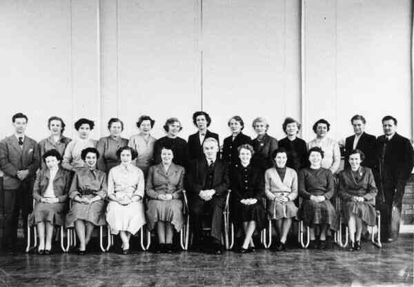 Staff Portrait Teachers Drylaw School mid-1950s