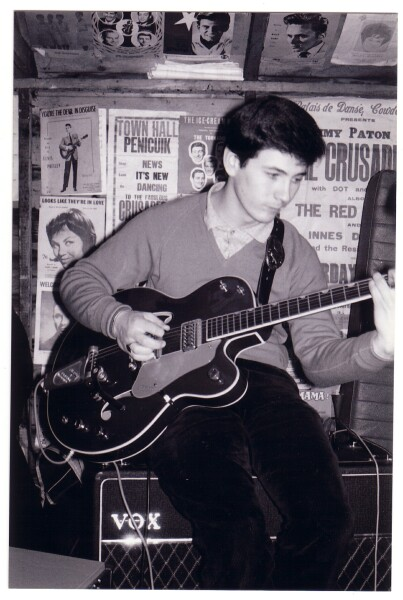 Guitarist Playing Gretsch Guitar c.1965