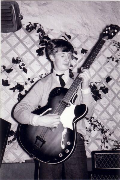 Bassist Playing Framus Bass Guitar At 'The Hive' Club c.1965