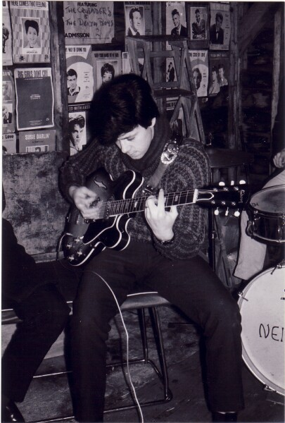Guitarist Playing Gibson Guitar c.1965