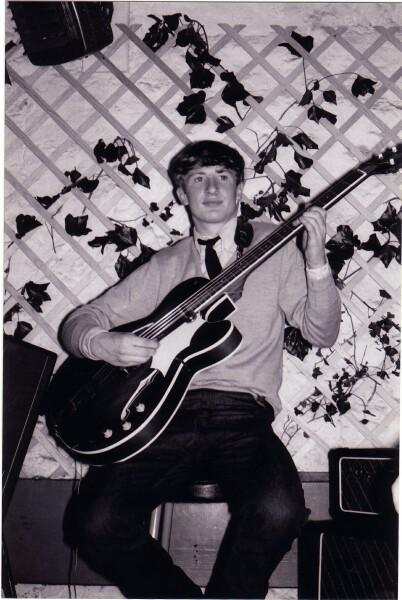 Musician Playing Framus Bass Guitar At 'The Hive' Club c.1965