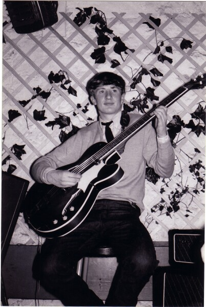 Musician Playing Framus Bass Guitar At 'The Hive' Club c.1965