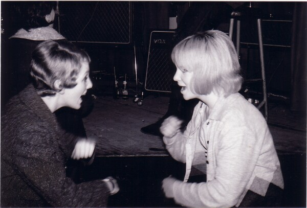 Two Young Women Dancing At Gig c.1965