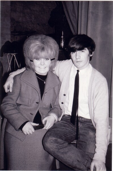 Member Of Local Band 'The Embers' With Fan At 'The Hive' Club c.1965