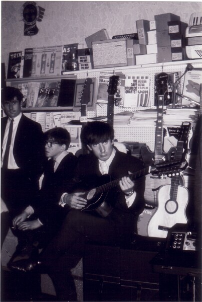 Young Musicians In Pete Seaton's Music Shop c.1965