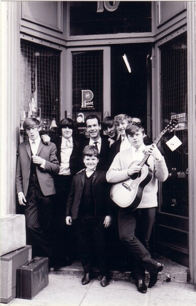 Local Band 'The Embers' Outside Pete Seaton's Music Shop On Hope Park Terrace c.1965