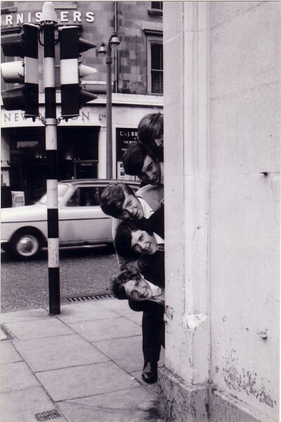 Local Band 'The Embers' Posing For Photo Opportunity On Corner Of South Clerk Street And Hope Park Terrace c.1965
