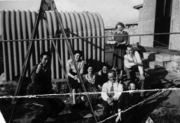 Family In The Garden Of Prefab House At Oxgangs/Colinton 1946