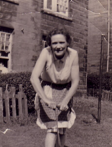 Woman In Back Green At Lochend Avenue 1944