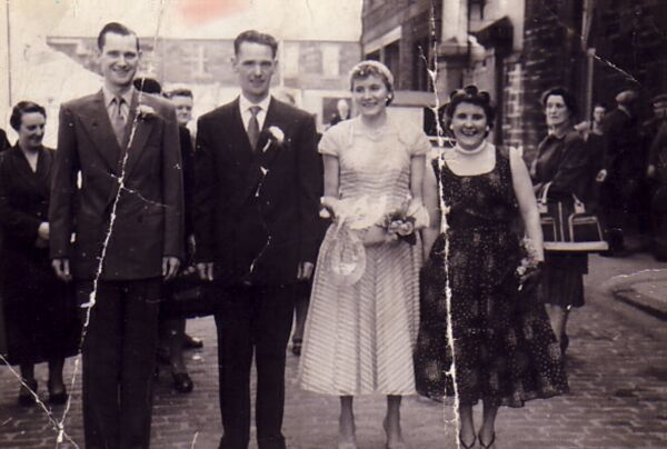 Wedding Party At Junction Place, By Dr Bell's, June 1956