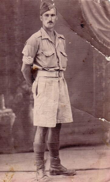 Studio Portrait Army Sergeant 1940s