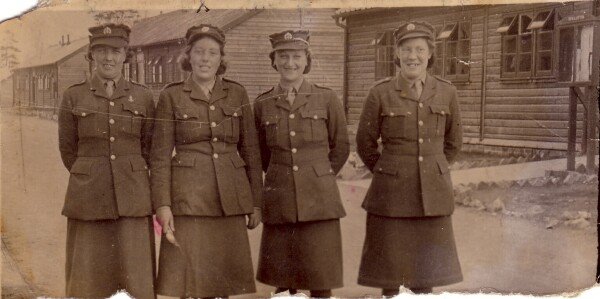 Members Of The Auxiliary Territorial Service Outside Barracks 1943