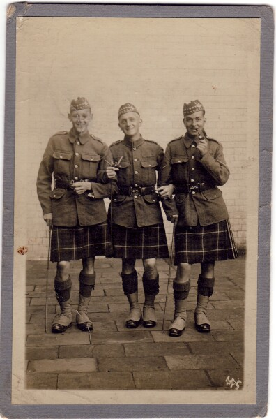Three Soldiers At Ease 1914