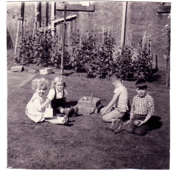 Children Playing In Back Garden At Blackhall c.1962